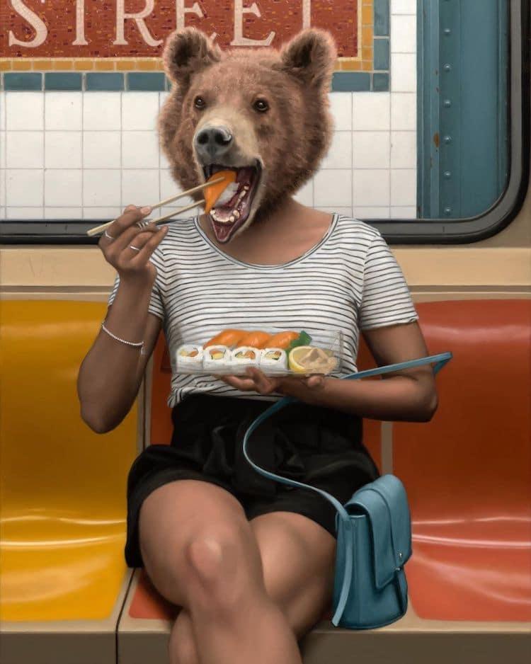 სურეალიზმი, მხატვრობა, ცხოველები, გრაბელსკი, ბლოგი ხელოვნება, ქველი, არტი, Qwelly, art