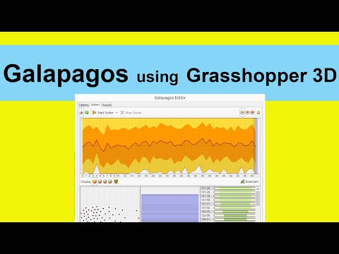 Galapagos in Grasshopper 3D