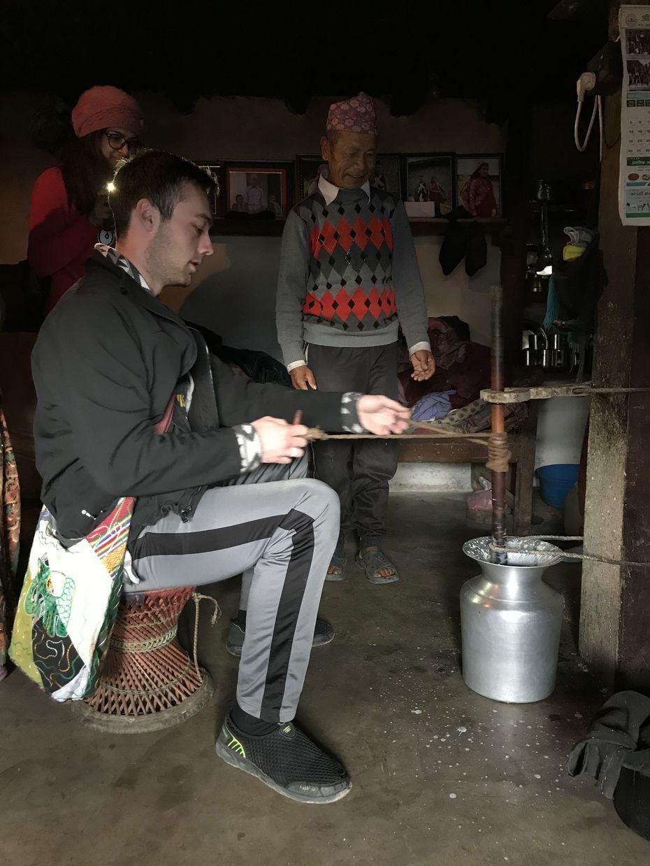 Churning Milk