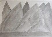 mountainwith pencle sketck