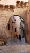 Roman arch in the city of Palma