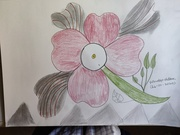 pencle with colour flower