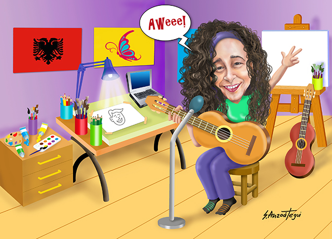 Albanian Butterfly's Cartoon
