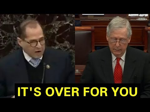 """""""WE ARE TOSSING THIS IMPEACHMENT"""" MITCH MCCONNELL GETS UP AND RIPS JERRY NADLER TO SHREDS"""