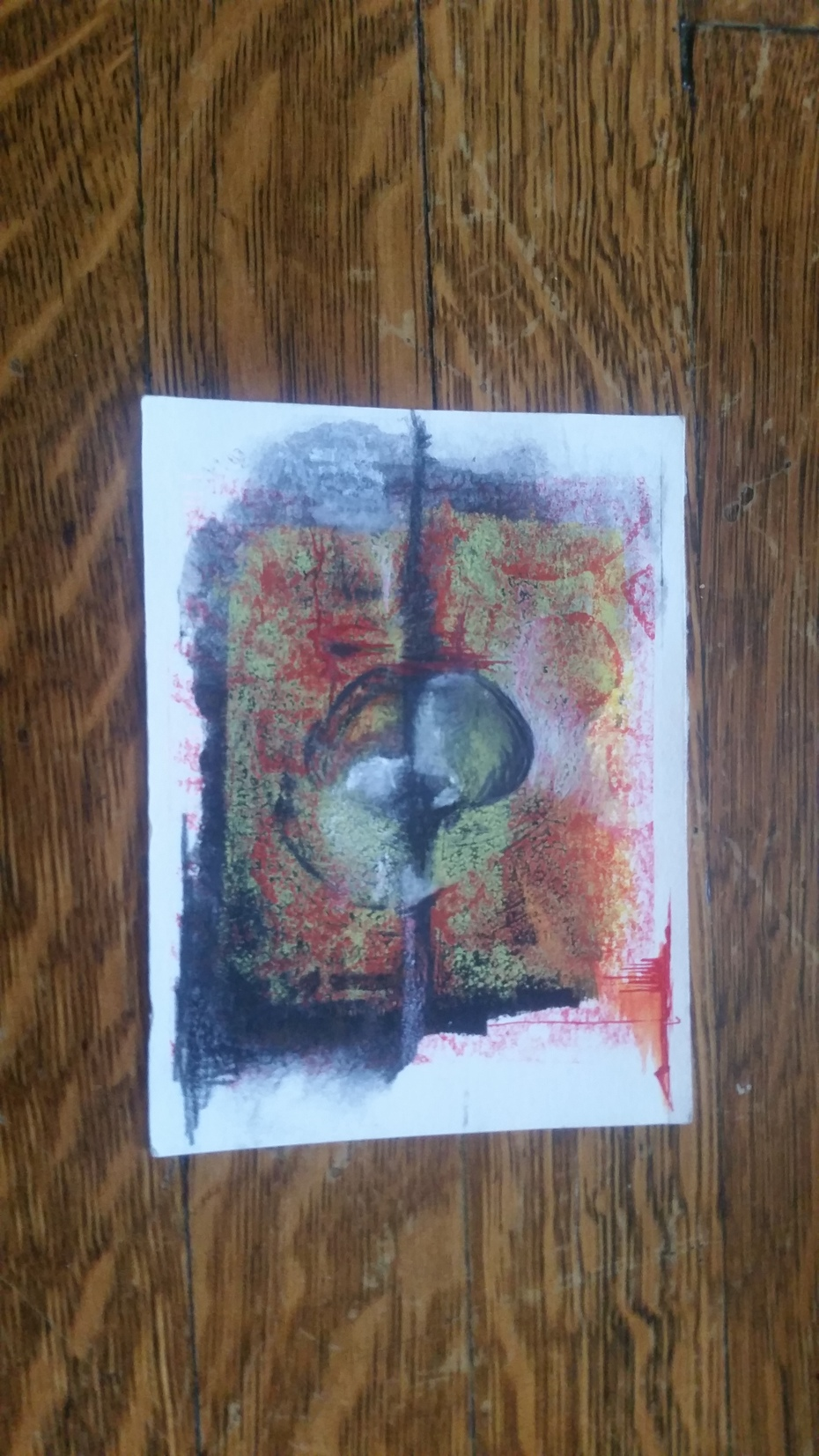 monoprint with watersoluble pencil