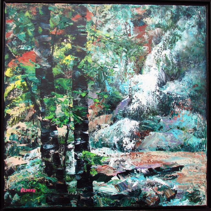 Waterfall and Trees