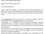 """reseña de """"La construcción de los nuevos asentamientos en el ámbito rural: el caso de las cabeceras de la provincia de Chalco durante los siglos XVI y XVII"""" parte 1"""