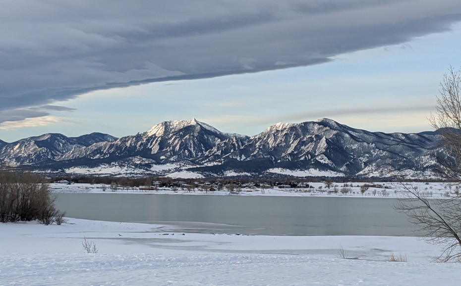 Coot Lake and Flatirons