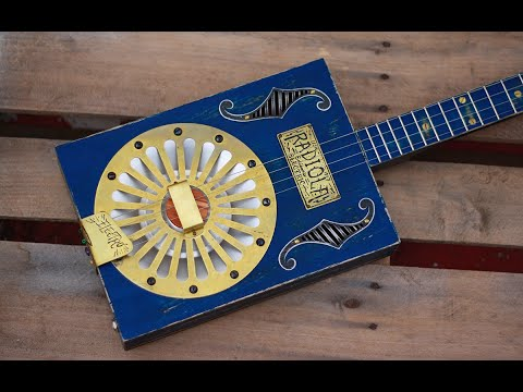⚡️Electro-Cigar Box Resonator⚡️3 String Guitar