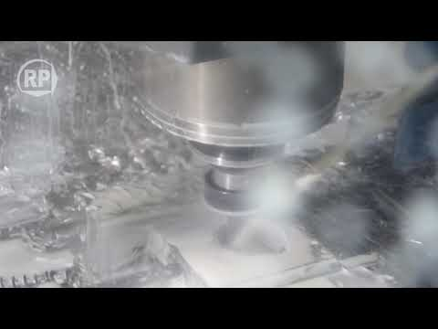 Metal milling on a Haas VF3 milling machine