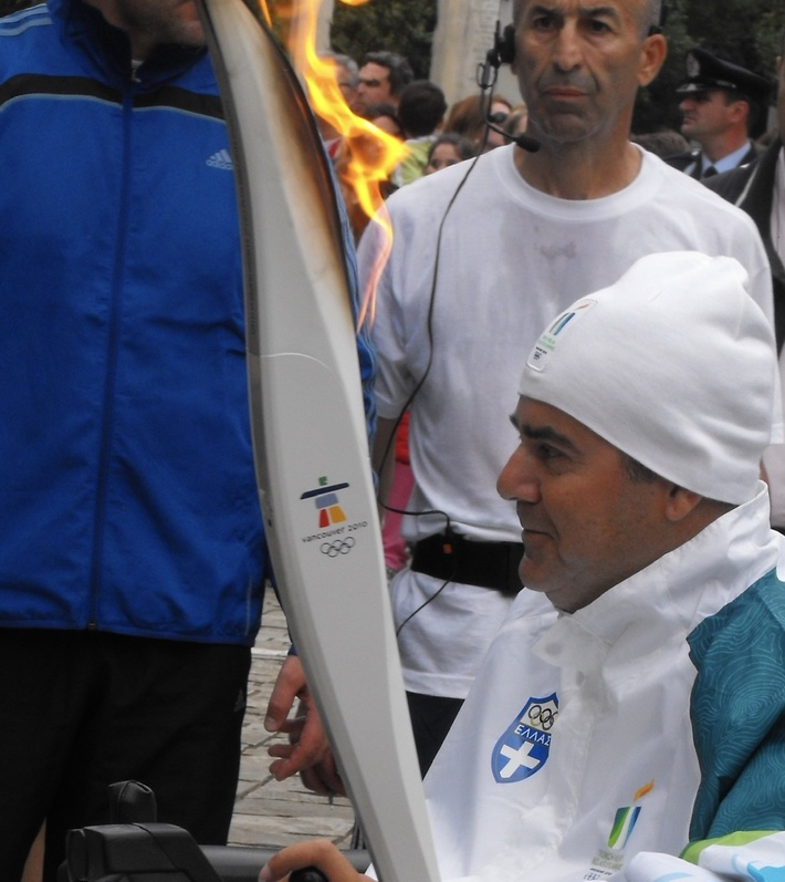 Winter Olympics Torch Relay On route to Vancouver