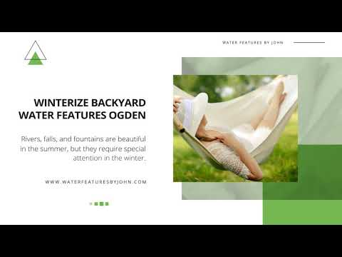 Winterizing Services for Backyard Water Features in Ogden
