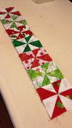 "contrasting pinwheels for  ""Fox in the Christmas Hen House"""