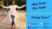 Anika Evans New single Promo Card