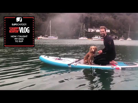 SUP Vlogger Ep7 / How I taught my dog to SUP