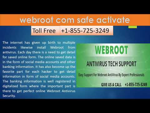 Activate for WWW.Webroot.Com/Safe Activate