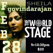 Singer/Songwriter - SHEILA GOVINDARAJAN @ The 'newly renovated' World STAGE