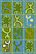 Lime Green Post With Blue Background