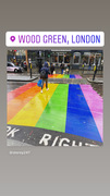 Rainbow crosswalk - Wood Green