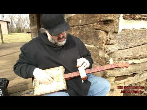 Playing Slow Swampy Blues Slide Guitar with a Bottle of Hot Momma Jalapeno Hot Sauce