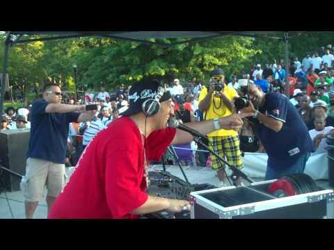 """Kid Capri spinning 45's at crotona park """"Tools of war"""" part 6/9"""