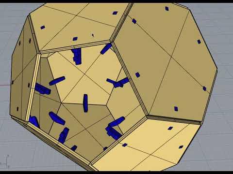 Tetrahedron wood connectors Rhino Python script