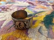 Central Asian Niello Bizletig Bracelet Cuff Turkish Tribe