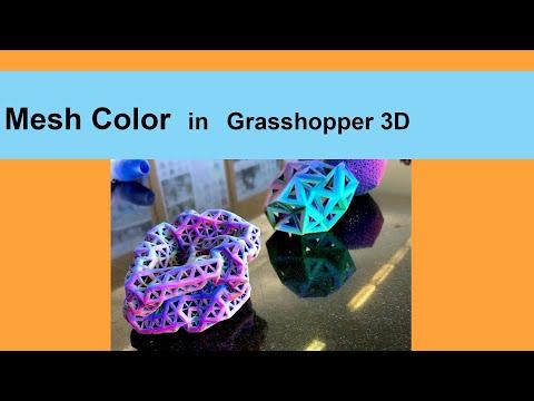 Grasshopper 3D - Mesh Color