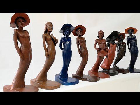 ''La danse des Elégantes'' sculptures de Christian Candelier