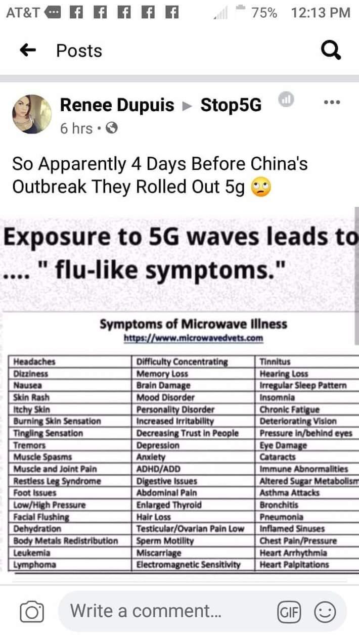 5G vs flu