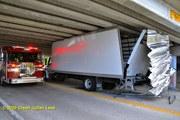 Truck Under Bridge
