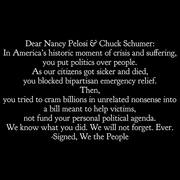 Letter to NastyNancy and Schmuck Schumer from We The People