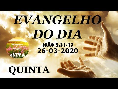 EVANGELHO DO DIA 26/03/2020 Narrado e Comentado - LITURGIA DIÁRIA - HOMILIA DIARIA HOJE