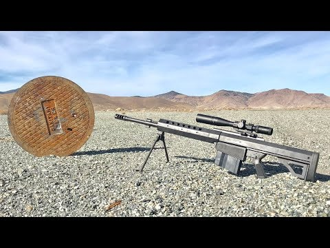 Are Sewer Lids BulletProof? - heavy sniper rifle 50cal