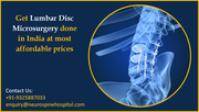 Get Lumbar Disc Microsurgery done in India at most affordable prices