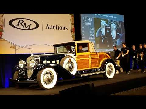 "1931 Cadillac V16 ""Woodie"" Converible Coupe  Sells At the 2019 RM Sotheby's Hershey"