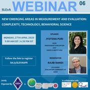 Webinar : NEW EMERGING AREAS IN MEASUREMENT AND EVALUATION