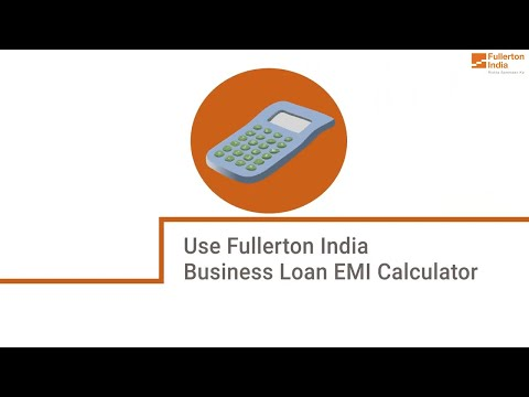 How to use a Fullerton India Business Loan EMI calculator?