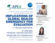 WEBINAR: Implications of Global Health Emergency on Evaluation with Micheal Patton
