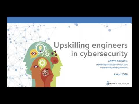 Webinar Upskilling your engineers in cybersecurity while they WFH
