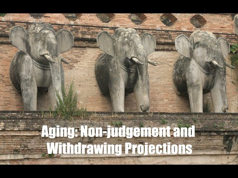Aging: Non-Judgement and Withdrawing Projections