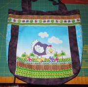 Chickens with Sweaters tote bag-back