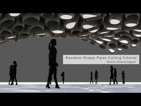 Random Shape Pipes Ceiling Rhino Grasshopper Tutorial
