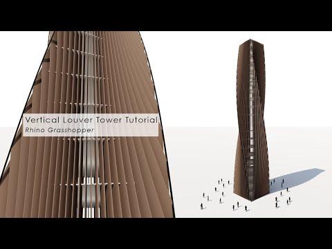 Vertical Louver Tower Rhino Grasshopper Tutorial