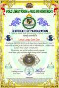 Certificate of participartion