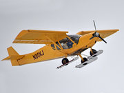 STOL CH 750 on snow skis