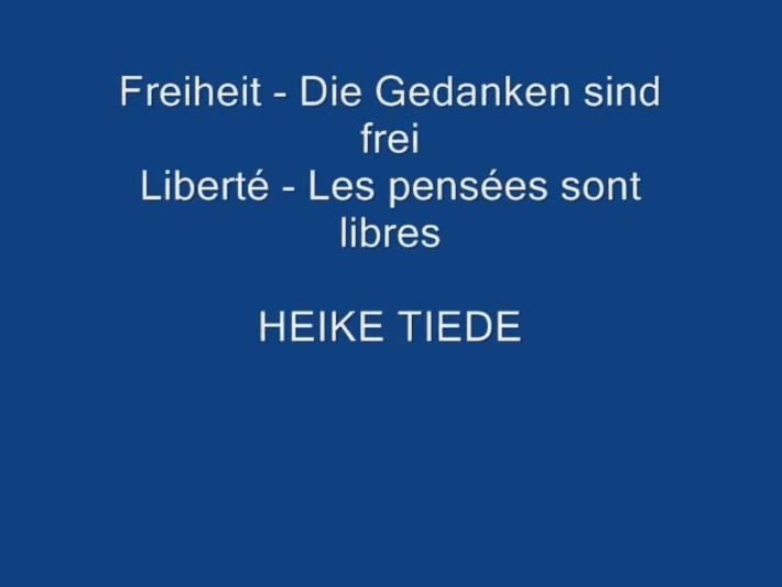 Liberté - les pensee sont libré