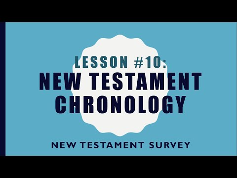 NTS #10 - New Testament Chronology