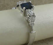 Celtic Engagement Ring with Sapphire and Diamond