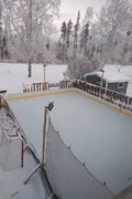 Frosty backyard rink for Christmas